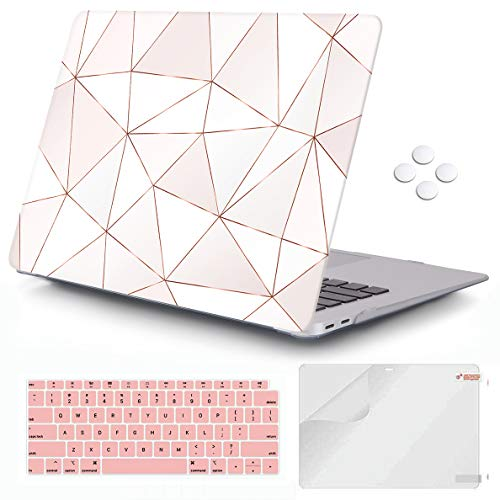 iCasso MacBook Air 13 inch Case 2018-2020 Release A2337 M1/ A1932/A2179, Hard Shell Case and Keyboard Cover Only Compatible Newest MacBook Air 13'' with Touch ID Retina Display - Fragments