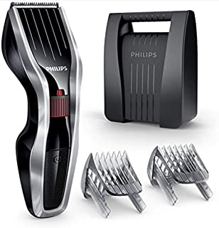 Philips HC5440 Cordless Hair Clipper Dual Cut Technology & Beard Comb Attachments and Hard Storage Case