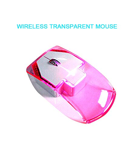 WYSSS Transparente Maus/Von Hinten Beleuchtete Drahtlose Maus/Optische Maus/ABS Hochpermeabel, PVC-Material/2,4 GHz Frequenz/Geeignet Für Spiele/Büro/Ergonomisches Design/Leises Und Leises