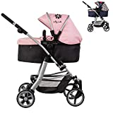 Play Like Mum Daisy Chain Connect 5 in 1 Dolls Pram - In Classic Check or Classic Pink Fabric. For ages 4-8 years. (Classic Pink)