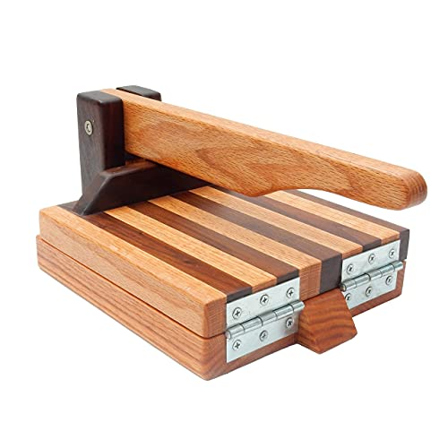 Hardwood Tortilla Press - Red Oak & Walnut- 8 inch