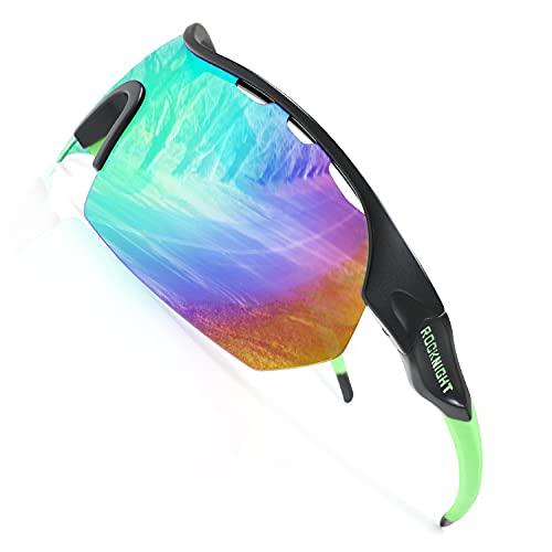 ROCKNIGHT Sport Polarized HD Sunglasses Women Boating Rowing Mirrored Green Sunglasses gafas de sol para mujer shade