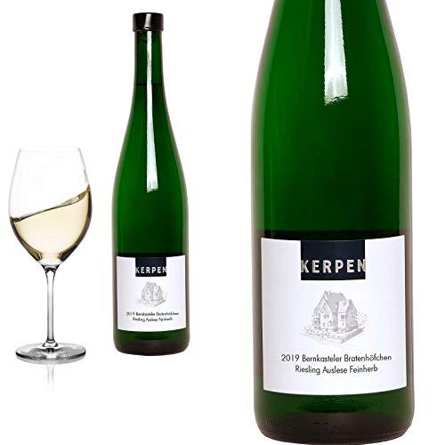 6er Karton 2019 Riesling Auslese feinherb Bernkasteler Brathöfchen von Weingut Kerpen - Weißwein
