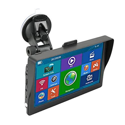 7-inch Bluetooth GPS-navigatie met Lifetime Maps, spraaknavigatie, slimme route-instellingen, capacitieve scherm-GPS, gratis kaartupdates, ondersteuning voor multimedia-functies, 30 nationale talen