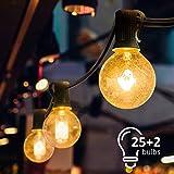 Mture Lichterkette Glühbirne, G40 Globe Lichterkette für Außen Garten Lichterkette, Innen-und...