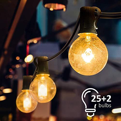 Mture Lichterkette Glühbirne, G40 Globe Lichterkette für Außen Garten Lichterkette, Innen-und Außen Deko Glühbirne für Zuhause, Party, Weihnachten, Garten, Hochzeiten (Energieklasse A )