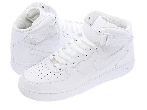 ナイキ NIKE AIR FORCE 1 MID '07 WHITE/WHITE 【オールホワイト】【定番】 並行輸入品