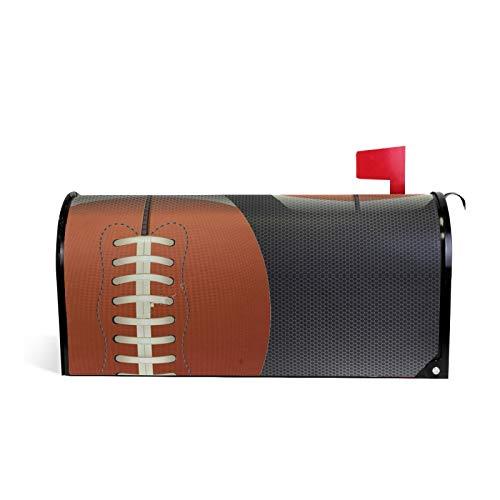 American Football Magnetische Briefkastenabdeckung Garten Home Decor Standardgröße 50,8 x 45,7 cm