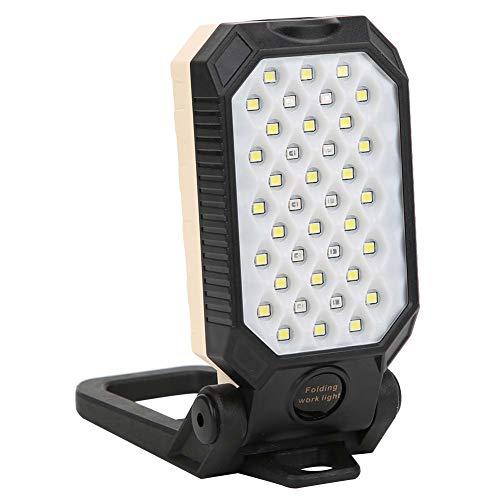 JYLSYMJa Luz de Trabajo 39LED, lámpara de Mantenimiento de Trabajo LED portátil con imán, para Acampar en el automóvil, Carga USB, Superficie de Tratamiento Antideslizante