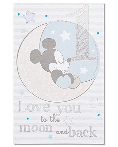 American Greetings 1st Birthday Card for Boy (Mickey Mouse)