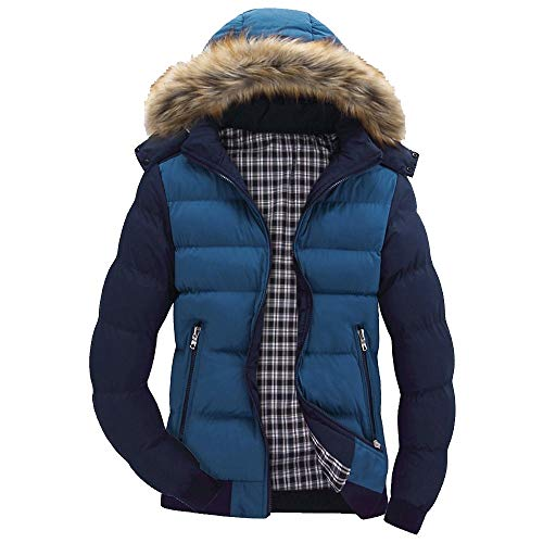 OSYARD Herren Steppjacke Daunenmantel Winterparka, Männer Jungen Casual Warm Daunenjacke Mit Kapuze Winter Zipper Trench Coat Outwear Top Bluse,Parka Mäntel,Gesteppte Jacke Wintermantel