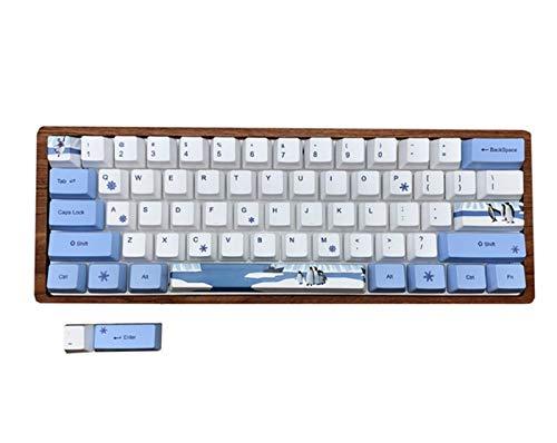 JCMY Set KeyCap PBT Tappi a retroilluminazione smerigliata per Layout del 60% Keyboard Meccanico GH60 XD60 RK61 ALT61 Keycap a Doppio Colpo .Tastiera keycaps. (Color : Penguin)