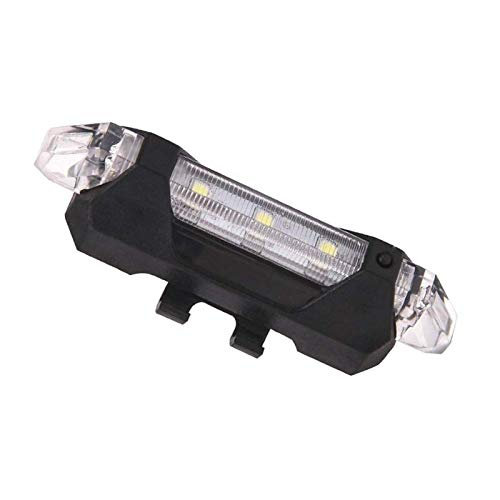 FFCVTDXIA Bicycle Light Bike Light Set 5 LED Recargable MTB Bicicleta Seguridad Ciclismo Cola Trasera Blanco
