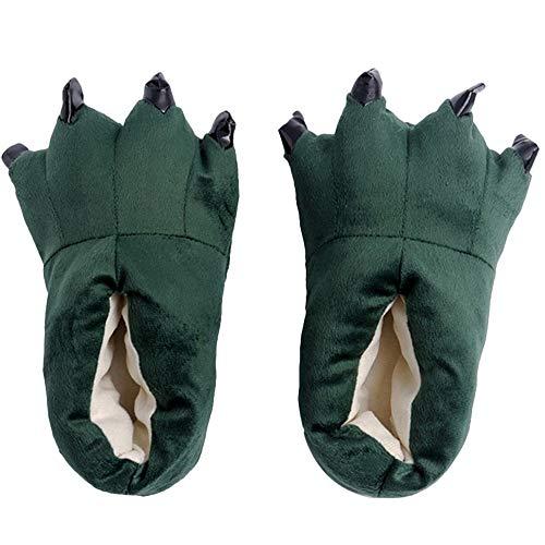 CHAW Lazy One Animal Paw Pantuflas para adultos y niños, unisex suave felpa para el hogar, disfraz de animal pata de pata, zapatos