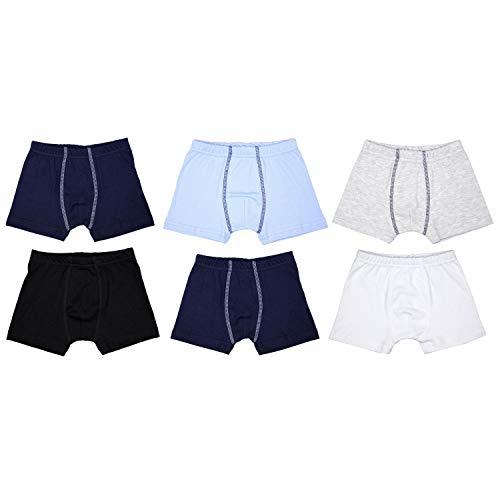 TupTam Jungen Unterhosen Slips o. Boxershorts 6er Pack, Farbe: Farbenmix 4, Größe: 128-134