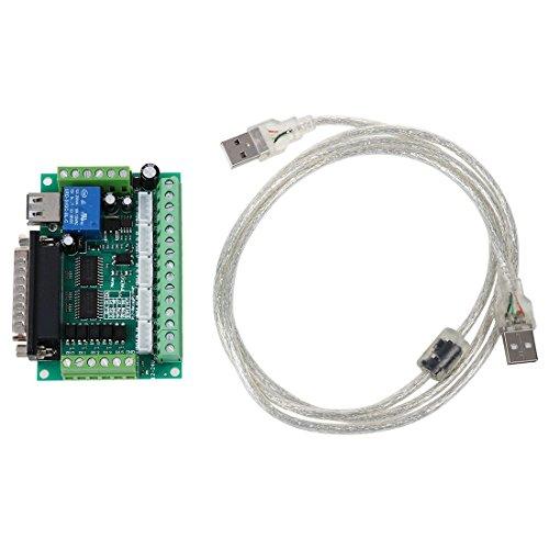 Schrittmotor - SODIAL(R)Verbessertes 5-Achsen CNC-Ausbruch Brett fuer Schrittmotortreiber Mach3 + USB-Kabel