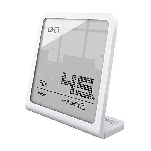 Stadler Form Hygrometer Selina, präzises digitales Messgerät für Luftfeuchtigkeit und Temperatur, weiss