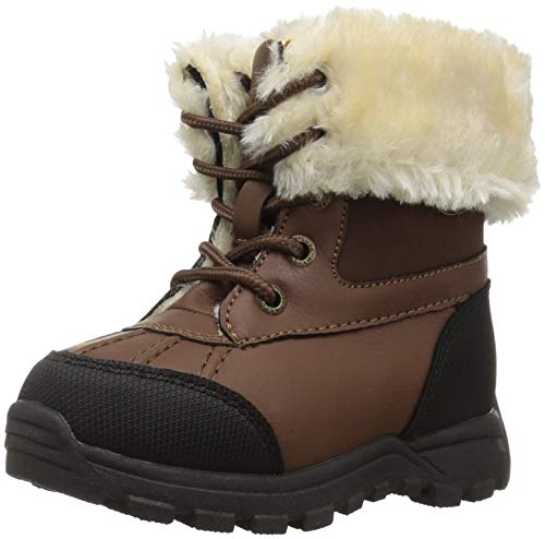 Lugz Unisex-Baby Tambora Fashion Boot, Vintage Brown/Black/Cream, 9 D US Toddler