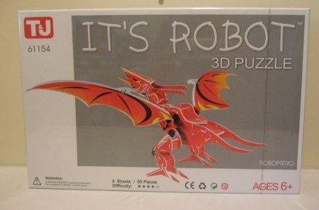 3D Puzzle - It´s Robot Roboptero (85 Teile) : ACHTUNG: Nicht geeignet für Kinder unter 6 Jahren!