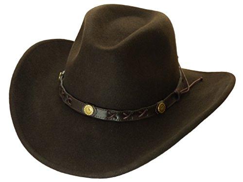 Twister Hats Twister Hats Cowboyhut Wollfilz Dakota braun rollbar Rollhut XL