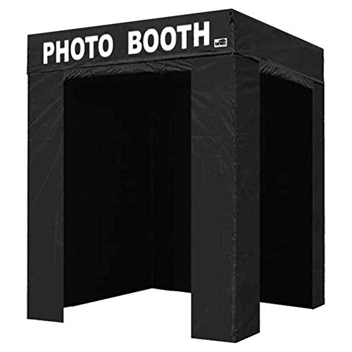 Eurmax 5x5 Pop Up Canopy Tent Outdoor Instant Canopies with Photo Booth Printed (5 x 5 Flat Top)