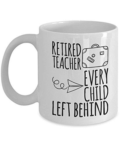 SpreadPassion Caneca de café aposentada de 325 ml, professor aposentado, todos os filhos deixados para trás, presentes divertidos de aposentadoria para professores