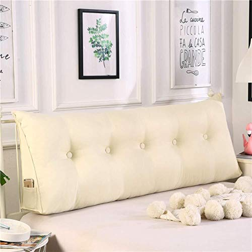 J-Kissen Keil-Kissen zurück Stützkissen, Dreieck Bett Rückenkissen Cuhsion, dreieckige Keil Kissen Bett Rückenlehne (Color : A, Size : 20x50x100cm(8x20x39inch))