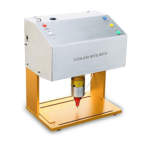 HeatSign Metal Tag Engraving Stamping Machine,HS-DE05 Desktop Electric Nameplate Label Engraver Marking Printer for Home and Business/Industrial