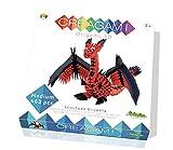 CreativaMente- Creagami Drago Juego de Creativita Origami Modulari, Multicolor (723)