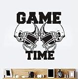 Tatuajes De Pared Vinilo Adhesivo Gimnasio Deporte Rugby Fútbol Americano Juego Tiempo Decoración Niños Habitación Pegatinas De Pared 62X57Cm
