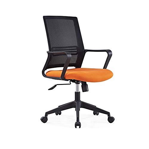 CHICAI Mid-Back Desk Ufficio Sedia con braccioli - Posteriore della Maglia, girevoli Sollevamento - Nero