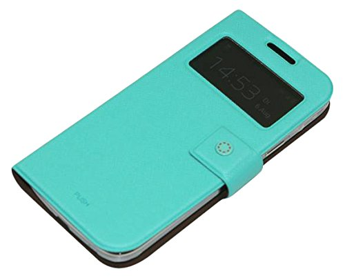 Fenice M021MI00GS4MIN Diario View Tasche für Samsung Galaxy S4 Mini Minze