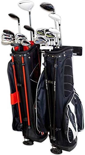 StoreYourBoard BLAT 2 Bag Golf Rack Garage Home Storage Hooks Mounted Hanging Organizer Golf product image