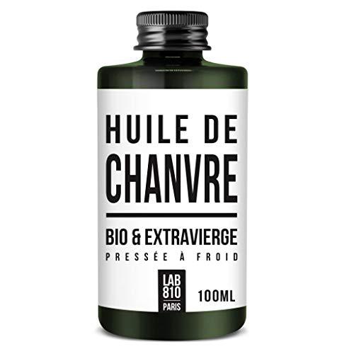 HUILE DE CHANVRE BIO 100% Pure et Naturelle, Pressée à Froid & Extra Vierge. Soin réparateur Cheveux, Anti-Age. Hydrate les cheveux et raffermit la Peau. Cannabis sativa Biologique (100ml)