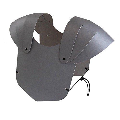 BestSaller Kinder Brustpanzer, aus stabilen Karton, silber (1 Stück) - 2