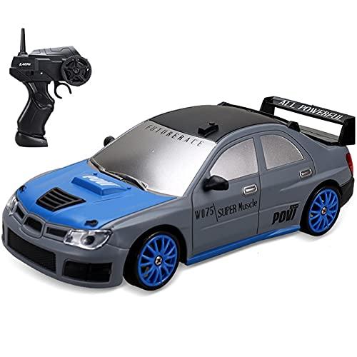 IIIL 1/24 RC Drift Coche 2.4Ghz Coche Teledirigido 4WD Vehículo Carretera Alta Velocidad con Luz LED, Baterías Y Neumáticos Deriva, para Adultos Niños Juguetes Regalos,G