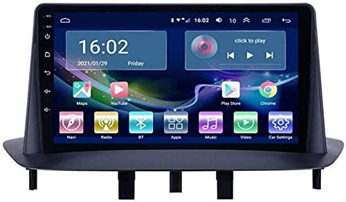 KLL Autoradio Stereo Android 10 con Touch Screen Capacitivo da 9 Pollici Adatto per Renault Megane 3 2008-2014, Supporto per Navigazione GPS per Auto USB SWC Telecamera per retrovisore Bluetooth