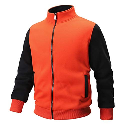 HHyyq Herren Sweatshirt Patchwork Outwear Tops Blouse Kapuzenpullover Tops Bluse Coat Herbst Winter Casual Lange Ärmel Mantel Jacke Mantel Outwear Reifen Oberseite T-Shirt Mode Sweater Jacket