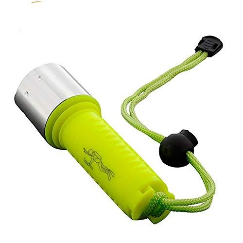 MINGYUECHAO LED Dropshipping LED-Tauchens-Taschenlampe Q5 2000LM Laterne-Lampe Wiederaufladbare 18650 Tauchen Scuba Taschenlampen-Licht Mini (Emitting Color : A)