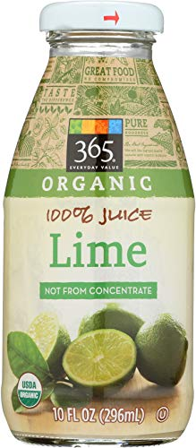 365 Everyday Value, Organic 100% Juice Not From Concentrate, Lime, 10 fl oz