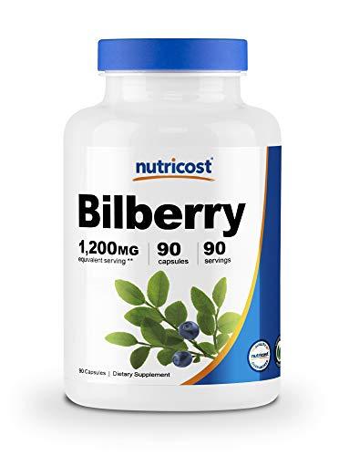 Nutricost Bilberry Capsules 1200mg (90 Veggie Capsules) - Gluten Free and Non-GMO