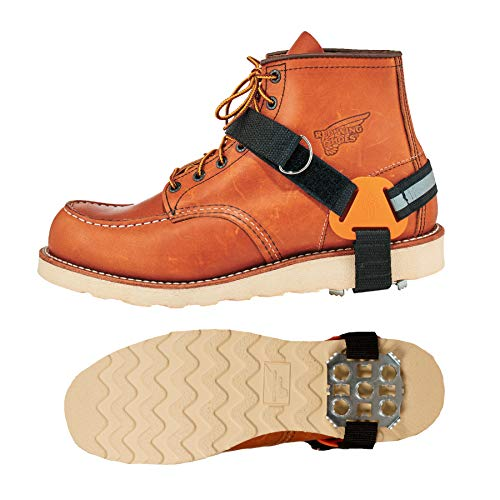 Ergodyne TREX 6315 Strap-On Heel Traction Cleat Grips Ice and Snow, Easily Attaches Over Heel of Shoe/Boot with Steel Plate to Provide Anti-Slip Solution, X-Large