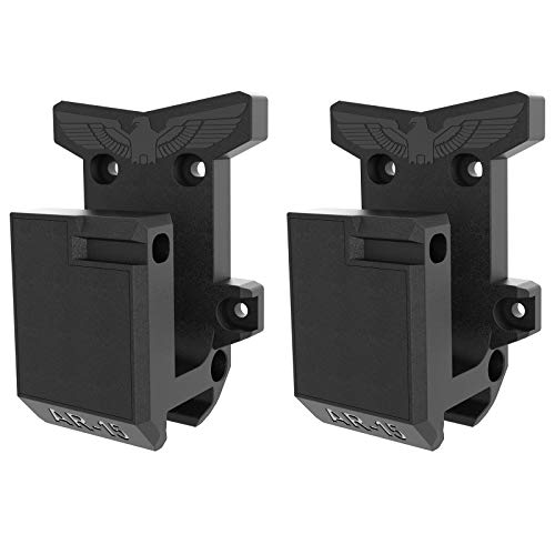 2-Pack AR15 Wall Mount, Gun Rack with Absolutely Strong and Solid PA Material& Frosting Treatment Display Storage Organization System Unique Low Profile Design Withstand 300Lbs of Tension