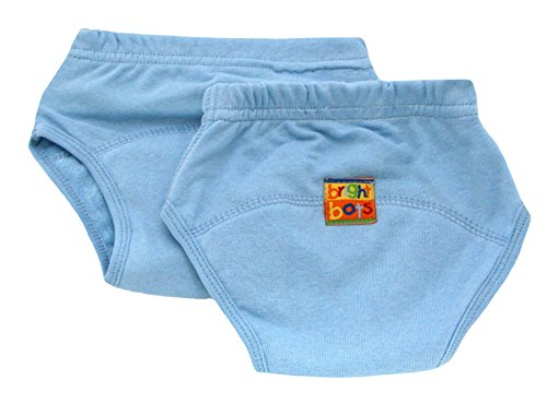 Bright Bots Lot de 2 pantalons d'entraînement pour pot Bleu pâle Taille L environ 24 mois