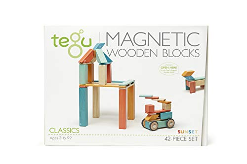 42 Piece Tegu Magnetic Wooden Block Set, Sunset