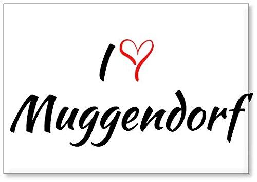 M&us Souvenirs - Ich Liebe Muggendorf, Kühlschrankmagnet (Design 2)