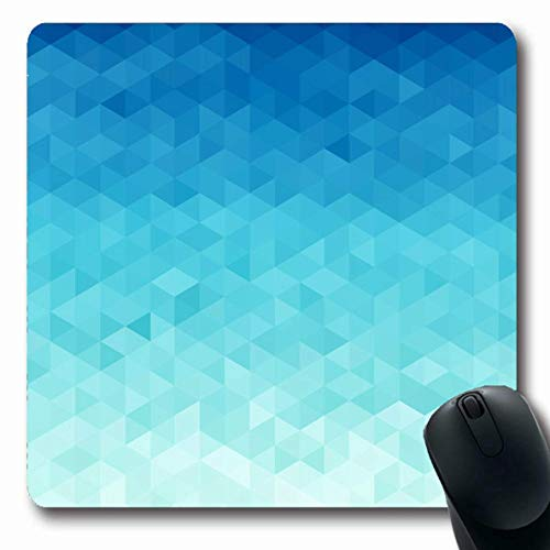 Jamron Mousepad OblongBlue Triangle Abstract Water Triangular Pattern Conceptual Raster Mosaic Pixel Nature Beach Summer Non-Slip Rubber Mouse Pad Office Computer Laptop Games Mat