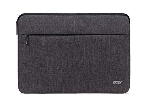 Acer Notebook Tasche / Protective Sleeve (geeignet für bis zu 14 Zoll (35,6 cm) Notebooks und Chromebooks, universelle Schutzhülle, mit Fronttasche) grau