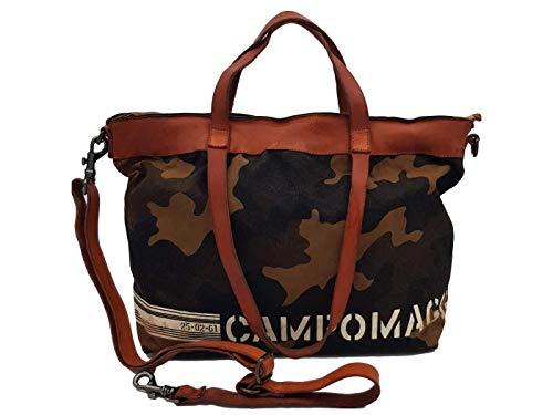 Campomaggi C020230ND X1262 F2619 - Bolso de la compra (piel), diseño de camuflaje