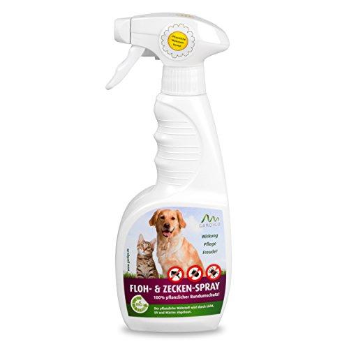 Gardigo Floh- und Zeckenspray 500 ml | Zeckenschutz für Hunde und Katzen & sonstige Haustiere | Zeckenschutzmittel, Flohschutzmittel, Parasitenschutzmittel | Deutscher Hersteller